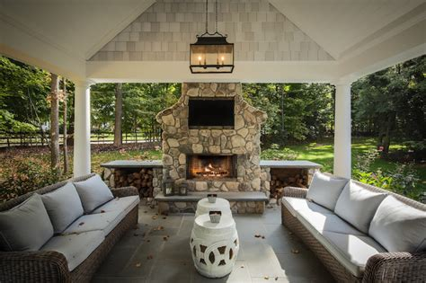 covered patio with fireplace covered patio traditional deck patio z plus architects