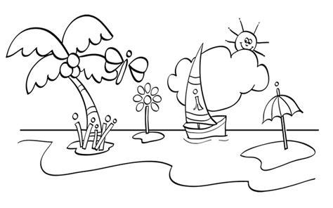 imagenes faciles para dibujar de la naturaleza dibujos de naturaleza 174 para colorear e imprimir