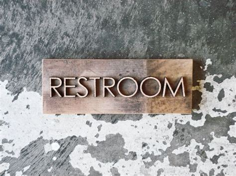rustic bathroom signs reclaimed barnwood restroom sign rustic bathroom decor