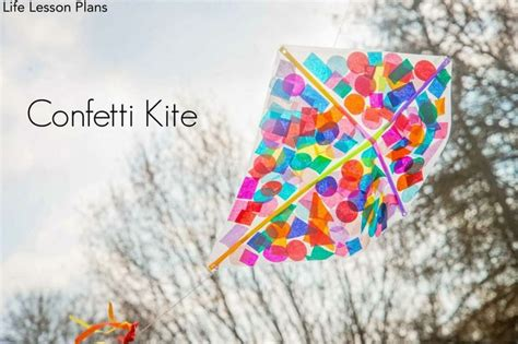 Kites Out Of Paper - contact paper confetti kite
