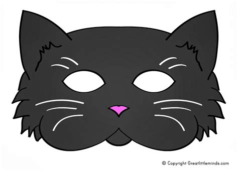 Printable Mask Of Cat | early play templates 5 printable halloween cat masks to make