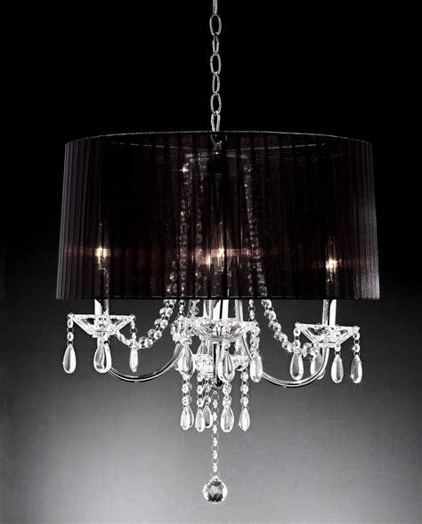 Black Drum Chandelier Black Drum Chandelier With Crystals Interior Design Ideas