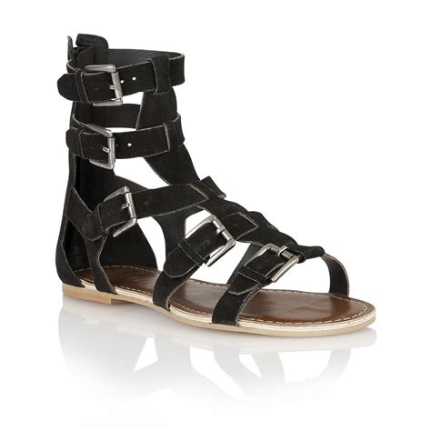 gladiator sandals black buy ravel los angeles gladiator sandals in black suede