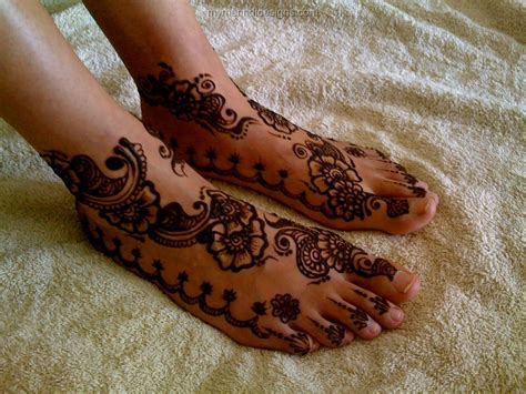 latest mehndi designs for legs for bridals image gallery