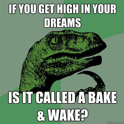 In Your Dreams Meme - if you get high in your dreams is it called a bake wake