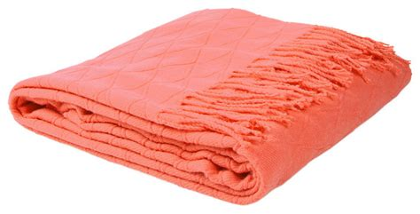 coral colored throws diamonds throw coral