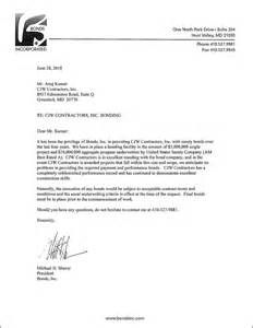 Employment Bond Letter Sle Financial