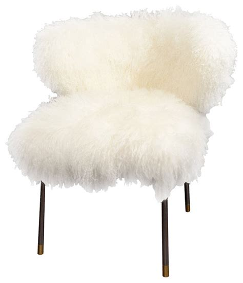 Mongolian Fur Chair by Custom Mongolian Chair Eclectic Armchairs And