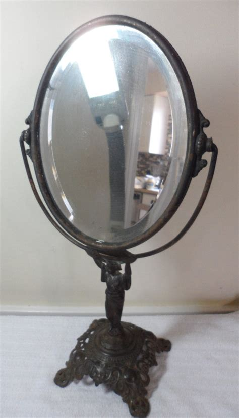 Antique Mirror Vanity by Antique Deco Golden Mfg Co Figural Geisha