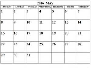 free pdf calendar template may 2016 blank templates pdf word excel printable