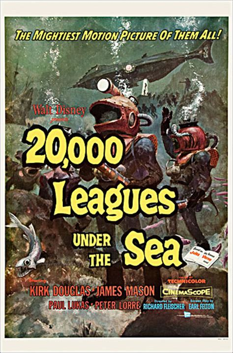 20000 leagues under the b00b606cn2 20 000 leagues under the sea 1954 one sheet poster reproduction 20 000 leagues under the sea