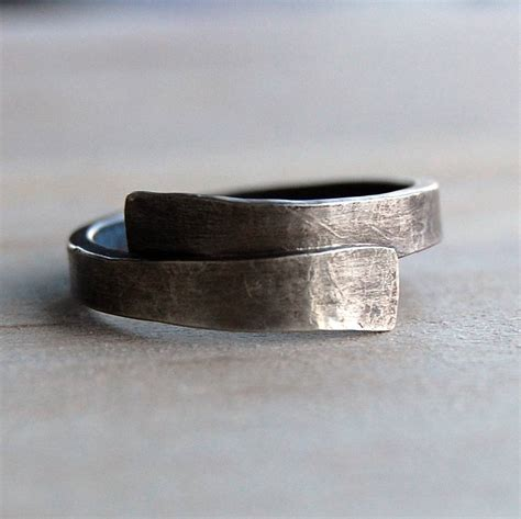 Handmade Band - handmade designer silver ring by alison designs