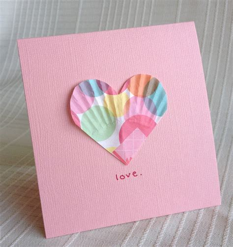 Craft Paper Cards - be brave keep going easy valentines craft paper liner hearts