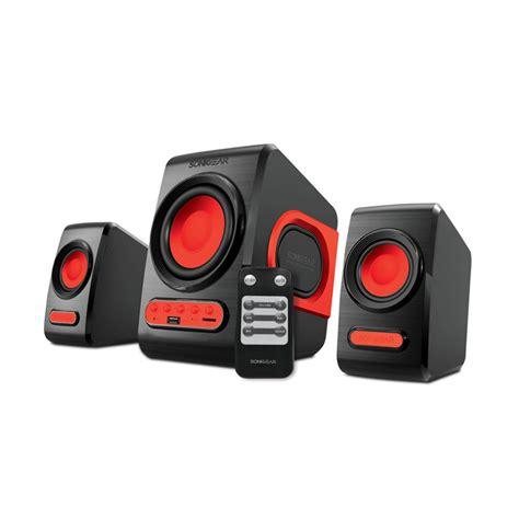 Speaker Sonicgear Quatro V Bass Pc Laptop Notebook jual sonicgear quatro v speaker 2 1 system with bass harga kualitas
