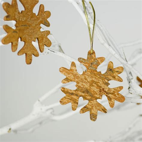aromatic cinnamon christmas tree snowflake decoration by