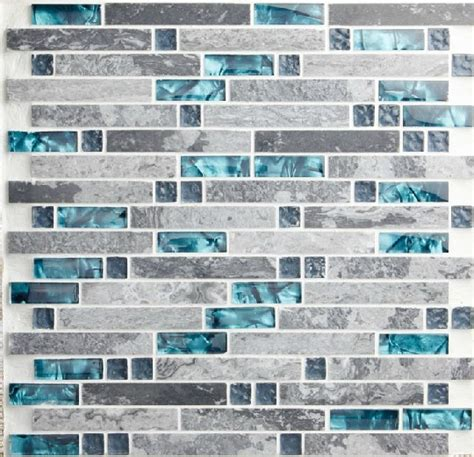 blue mosaic tile backsplash blue shell tile glass mosaic kitchen backsplash tiles