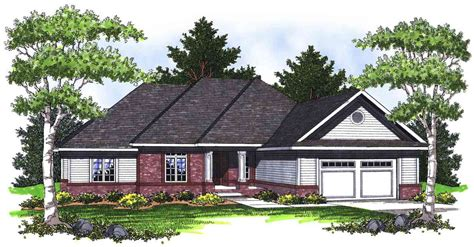 hip roof ranch house plans ranch home with hip roof 89231ah architectural designs