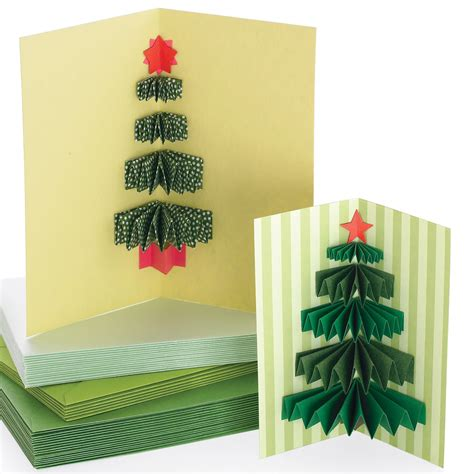 new year tree diy 3 d tree card martha stewart