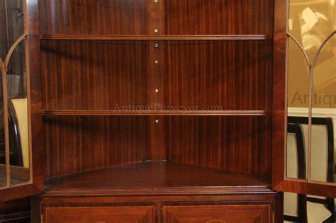 china cabinet lighting kit antique reproduction hepplewhite corner china cabinet