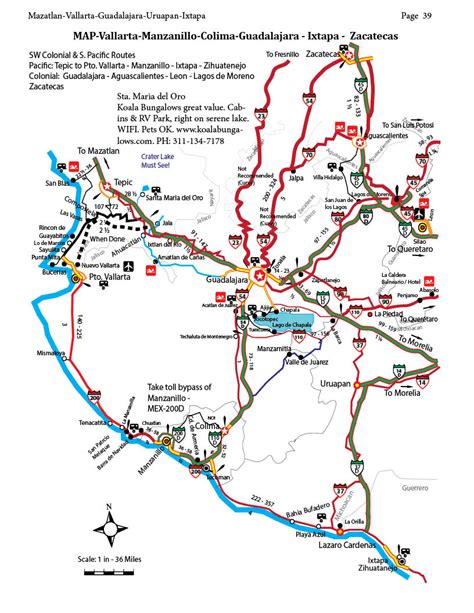 guadalajara map zacatecas and san luis potosi to guadalajara san blas