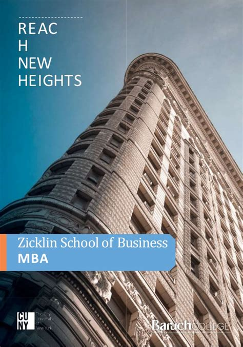 Baruch College Mba Credits by Baruch College Mba Brochure