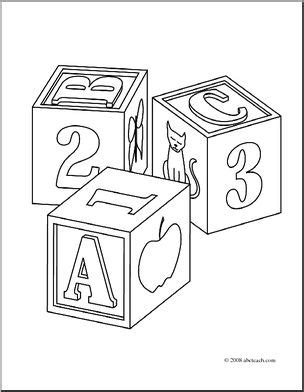 coloring pages abc blocks clip art child s blocks coloring page i abcteach com