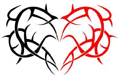 half heart tattoos for couples half design for couples tattooshunt