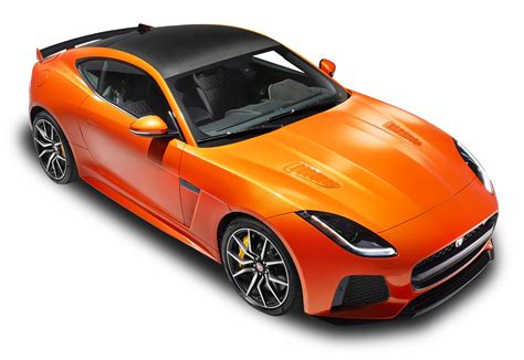jaguar car png orange jaguar f type svr coupe top view car png image pngpix