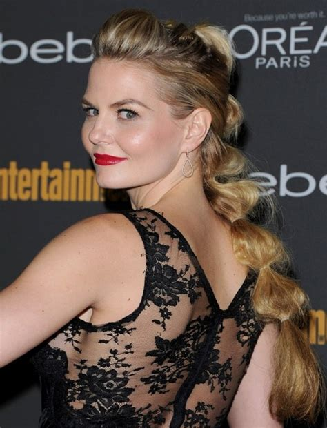 jennifer morrison tattoo morrison hairstyles twisted ponytail hair