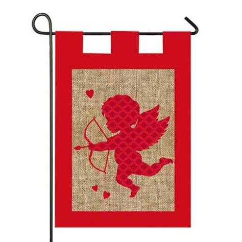 valentines flag burlap garden flag valentines day garden flags