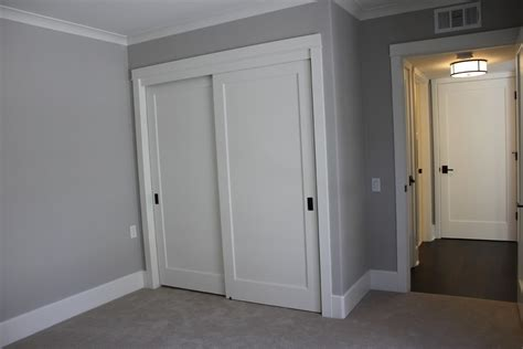 modern molding and trim contemporary door knobs spaces traditional with closet