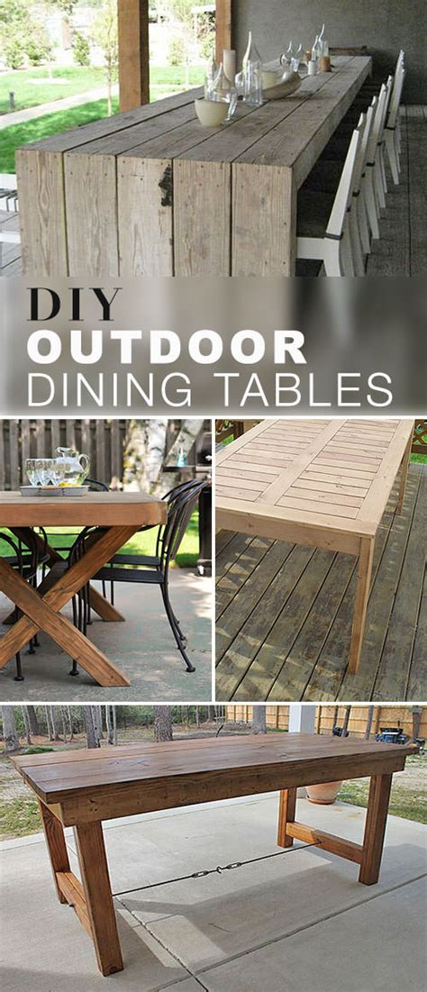 Diy Patio Table Diy Outdoor Dining Table Projects The Garden Glove