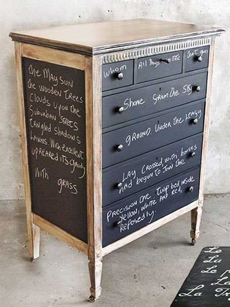 chalk paint dresser ideas chalkboard paint for dressers modern furniture painting