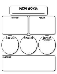 marzano vocabulary template daily 5 cafe on daily 5 daily five and word work
