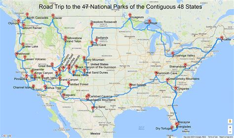road map of usa national parks the best national parks to photograph in winter