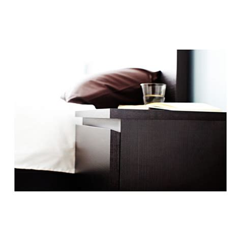 Malm Bedside Drawers by Malm Chest Of 2 Drawers Black Brown 40x55 Cm