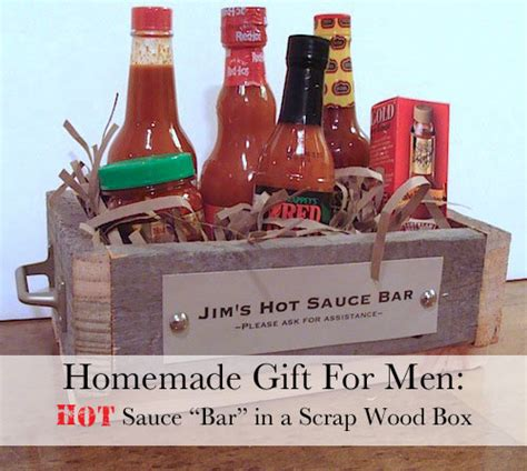 homemade gift for men hot sauce bar the happy housewife