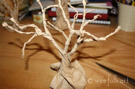 How To Make Tree Out Of Paper - paper bag gnarly trees 187 wee folk