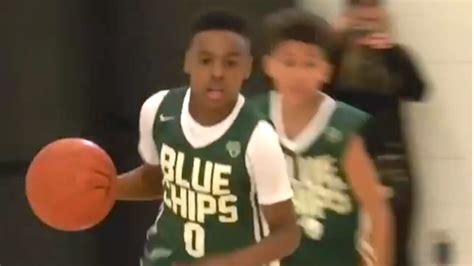 Lebron Jr Also Search For Lebron S Destroys Opponent With Block