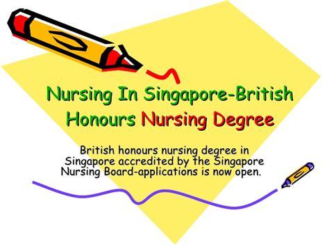 nursing in singapore honours nursing degree