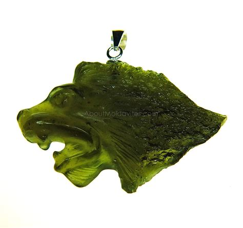 Moldavite 21 37 Gram Shape Collection pendants carved moldavites zodiac aboutmoldavites
