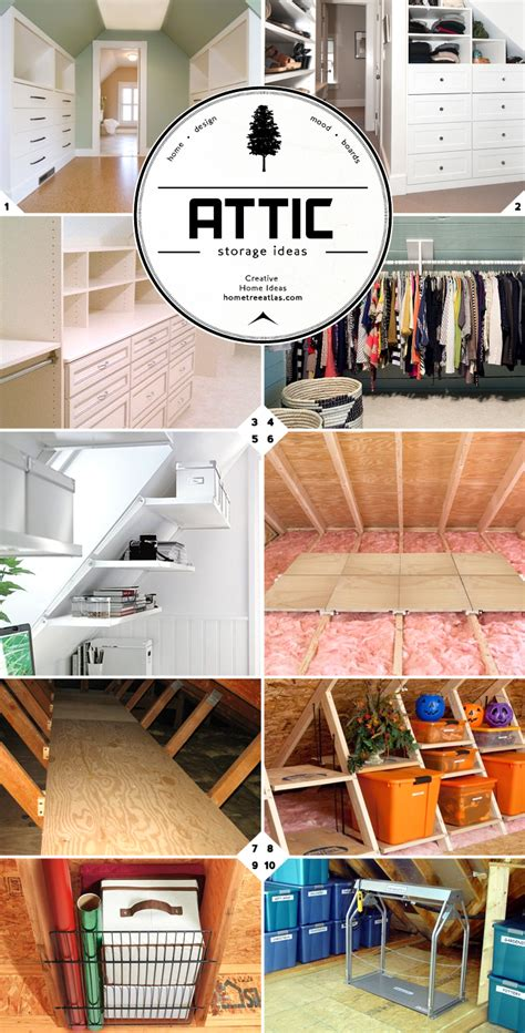 Finished And Unfinished Attic Storage Ideas Home Tree Atlas
