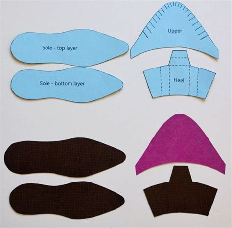paper shoes templates and free paper on pinterest