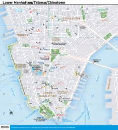 Show Me The Map Of New York City by New York City Map Lower Manhattan Tribeca And Chinatown