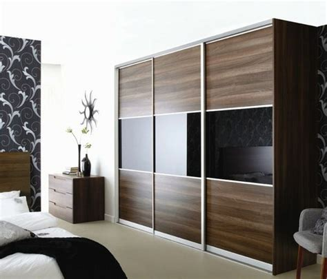 Sliding Wardrobe Closet by Wardrobe Design Brown Black Mirror Surfaces Http