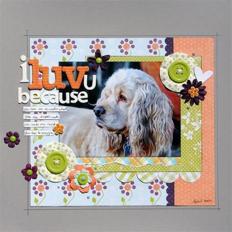 Scrapbook Layout Ideas For Pets | 420 best scrapbooking pet layouts images on pinterest