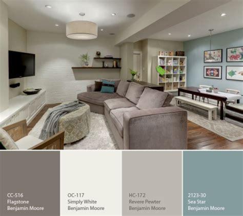 calming paint colors for living room benjamin color palette for a basement favorite