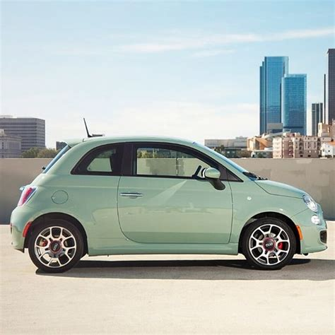 green fiat fiat500 and the new color of lattementa green