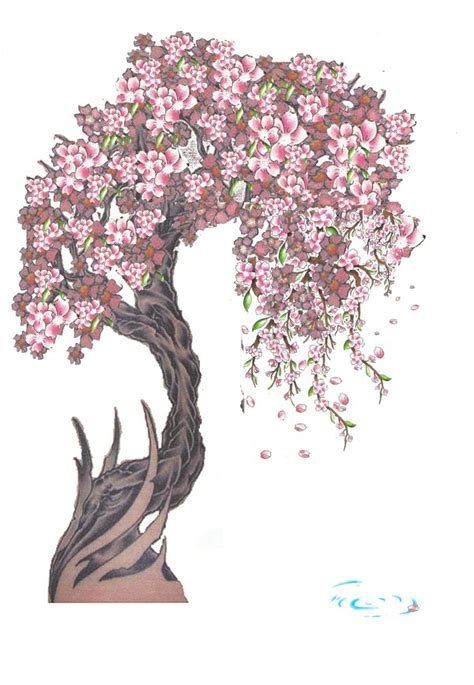 scary tree tattoo designs radom cherry blossom by isleotto on deviantart