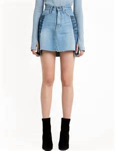 Two Tone two tone denim mini skirt